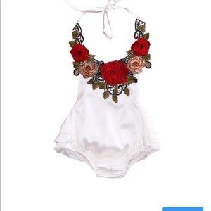 Baby rompers,baby jumpsuit,floral romper,jumpsuit